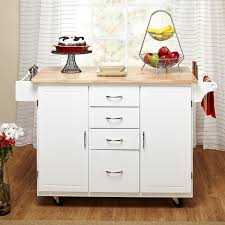 white country cottage kitchen. Simple Living White/ Natural Country Cottage Kitchen Cart White