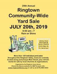Ringtown Area Library Ringtown Community Yard Sale