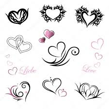 Tetování Srdce Valentýn Stock Vektor Christinekrahl 118756482