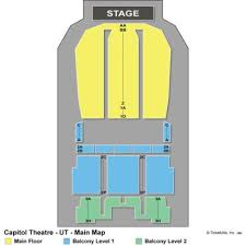 capitol theatre seating chart