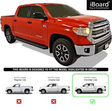 iBoard Black Running Boards Style Fit 07-18 Toyota Tundra CrewMax ...