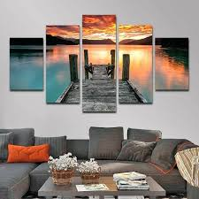 gray canvas wall art jump in the lake multi panel canvas wall art grey pink canvas