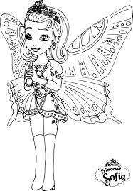 Coloriage Princesse Sofia Papillon Imprimer