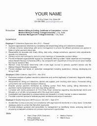 Medical Billing And Coding Resume Sample 60 Unique Medical Billing and Coding Resume emsturs 22
