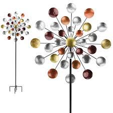 galaxy kinetic stake garden spinner