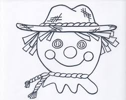 Scarecrow Face Coloring Page Scarecrow