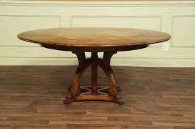 stunning 54 round dining tables 10 table pedestal base lovely new solid walnut arts and crafts expandable of