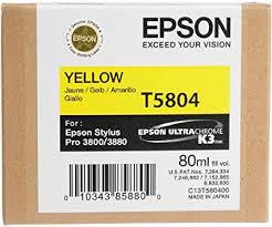 Amazon.com: <b>Epson T5804</b> UltraChrome K3 <b>Yellow</b> Cartridge Ink ...