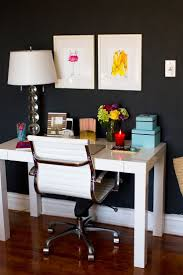 west elm office desk. how to style a west elm parsons desk white lacquer black wall office