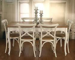 7 piece french provincial dining table chairs package timber top cross back in home garden furniture dining room furniture ebay