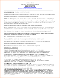 Resume Recruiter Resume