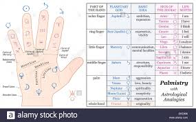 Zodiac Signs New Chart Palmistry Astrology Analogy Chart Planetary Gods And