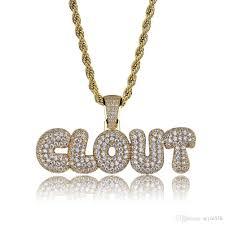2019 hip hop clovt diamond custom name combination bubble letter pendant necklace micro cubic zirconia gold silver color copper pendant necklace from