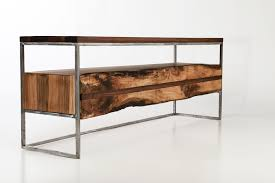 industrial metal and wood furniture. Furniture Handmade Reclaimed Wood Industrial Tv Stand With Metal Base And Storage Shelf For Exciting Living Room Design Awesome Your Decor Console Table G