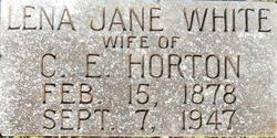 Lena Jane White Horton (1878-1947) - Find A Grave Memorial