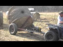 Homemade Hay Bale Spear Dolly - YouTube | Farm in 2019 | Hay bales ...
