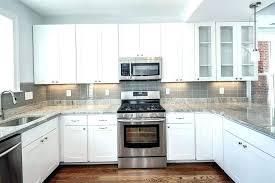light grey subway tile backsplash gray dark cabinets glass lighting magnificent kitchen image result for li