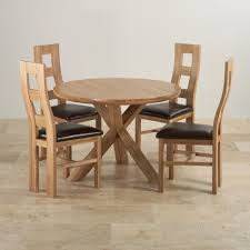 natural oak dining set 3ft 7 table 4 wave back chairs