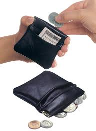 coin purse black genuine leather small squeeze top coin pouch loading zoom