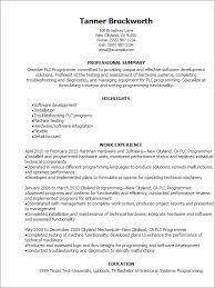 Plc Resume Sample