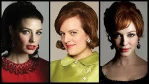 the makeup of mad men three leading las three diffe looks
