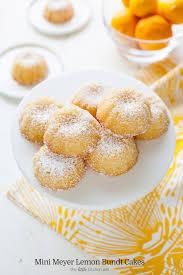 Mini Meyer Lemon Bundt Cakes