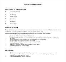 Sample Business Plans Templates Business Plan Template Nurul Amal