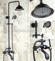 shower set bathroom good quality oil rubbed bronze tub faucet 8 inch rainfall head hand in