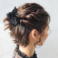 結婚式のショートの髪型アレンジ28選自分で出来る簡単なセットも Cuty
