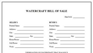 watercraft bill of sale download the watercraft bill of sale free