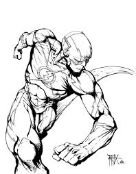 The Flash Comic Colouring Page Coloring