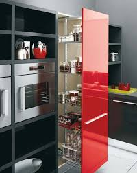 black and red kitchen designs. Brilliant Designs White Black And Red Kitchen Design U2013 Gio By Cesar  DigsDigs And Designs