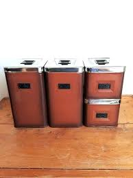 retro canisters vintage canister set swan red turquoise