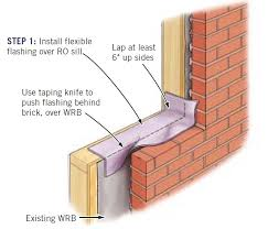 step 1 install flashing tape over the ro sill let approximately 2 to 3