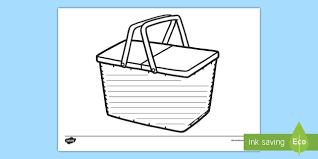Picnic Template Picnic Basket Template Worksheet Activity Sheet Worksheet Food