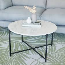 white marble aria round coffee table