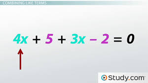 collecting like terms on one side of an equation lesson transcript study com