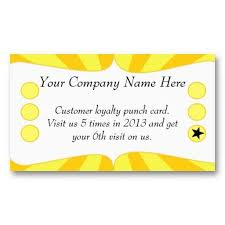 Discount Punch Card Sun Rays Discount Promotional Punch Card Stationary Etc