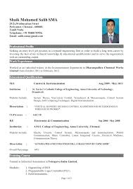 Resume For Fresher Mechanical Engineer Sample Resume For Fresher