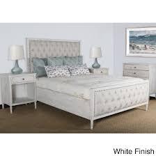 Lennox Design Hannah Tufted Bedroom Set, King - White