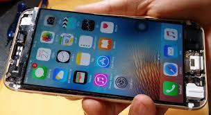 broken glass in the iphone ipad