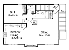 Garage Plan 41153 At FamilyHomePlanscomGarage With Apartment Floor Plans