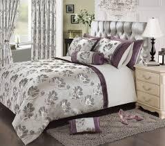 plum mauve colour stylish fl jacquard duvet cover luxury beautiful glamour bedding item double duvet set 8823 p jpg