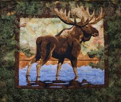 Lake Moose Toni Whitney Animal Fusible Applique Quilt Pattern + Fabric & Hidden Lake Moose Toni Whitney Animal Fusible Applique Quilt Pattern +  Fabric Adamdwight.com