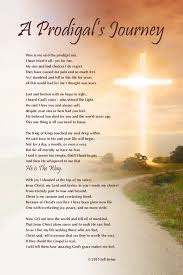 a prodigal s journey poem sun and cross background