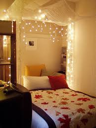 to hang lights in a bedroom