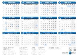 2010 Calendar January Calendar 2010