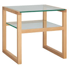 herrmann solid oak and glass side table now at