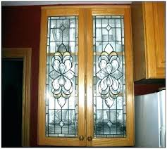 glass inserts for kitchen cabinets cabinet doors leaded