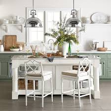 Kitchen marble top Island Marble Sometimes Daily Barrelson Kitchen Island With Marble Top Williams Sonoma